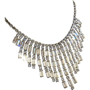 Fabulous 50s Rhinestone Runway Necklace