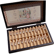 Rare German ALT Lavendel Seife Perfume Sampler in Leather trim box