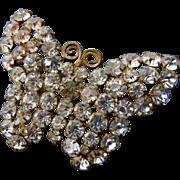 Edwardian Czech Signed Paste Butterfly Brooch Pin