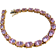 10k Gold Pink CZ Bracelet - Heavy 12 grams! HOLIDAY SPECIAL!