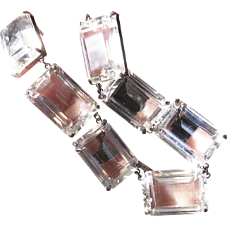 Fine Sterling Japan Rock Crystal Necklace - 196 Carats!
