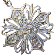 Coppini Italy 800 Silver Large Maltese Cross - Free Shipping!