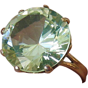 14k Large Glowing Green Spinel Ring - Color of the Year - Greenery!