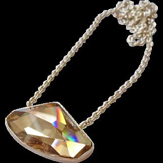 Gorgeous Sterling Asymmetrical Swarovski Crystal Necklace