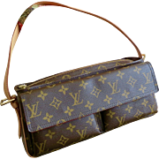 Mint Retired Louis Vuitton Monogram Canvas Viva Cite MM Shoulder Bag