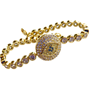 Contemporary Joan Boyce Gold  Evil Eye Protection Talisman Bracelet