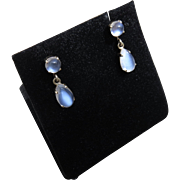 Beautiful 14k Gold Moonstone Earrings