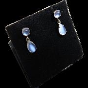 Beautiful 14k Gold Moonstone Earrings