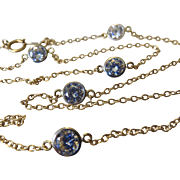 "14k Gold Faux Diamond CZ Station Necklace 18""- Diamonds By The Yard Style!"
