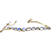 9CT Gold Moonstone Bracelet