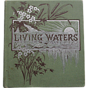 Beautiful Miniature Book c1900 LIVING WATERS BIBLE TEXT BOOK, E.P. Dutton with color lithos