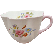 Shelley Rose and Red Daisy Flat Cup on Dainty Shape