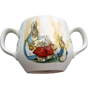 Peter Rabbit Wedgwood Beatrix Potter Sugar Bowl Mint
