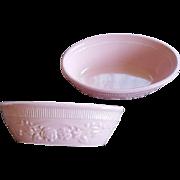 Pink TST Genuine Oven Serve Ware Oval Ramekins Vintage Kitchen