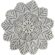 Delicate Vintage Hand Knit Lace Doily Rare to Find Beauty