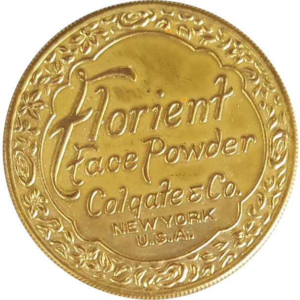 1920s Face Powder Tin Florient by Colgate with Contents
