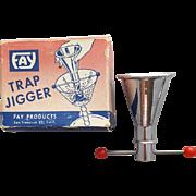 1950's Bakelite and Metal Trap Jigger MIB Fay Barware Mid Century