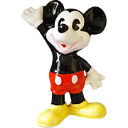 Vintage Mickey Mouse Figurine Walt Disney Japan No Shirt