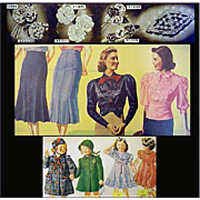 1930s Fashion Catalog Depression Era Vintage Clothing 1938 Bella Hess