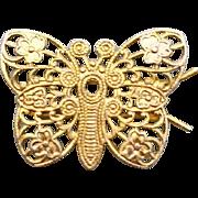 1960s Vintage Butterfly Hair Barrette Clip Vanity