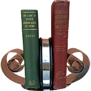 Vintage 1930s Art Deco Vintage Spring Steel Bookends