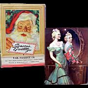 Vintage Christmas Calendar 1945 Santa Claus Purina Advertising