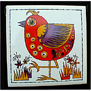 1960s Holt Howard Wacky Bird Trivet in Cast Iron