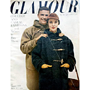 Vintage Women's Fashion Magazine Glamour August 1950 Clothing Jewelry