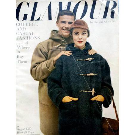 Vintage Women's Fashion Magazine Glamour August 1950 Clothing Jewelry