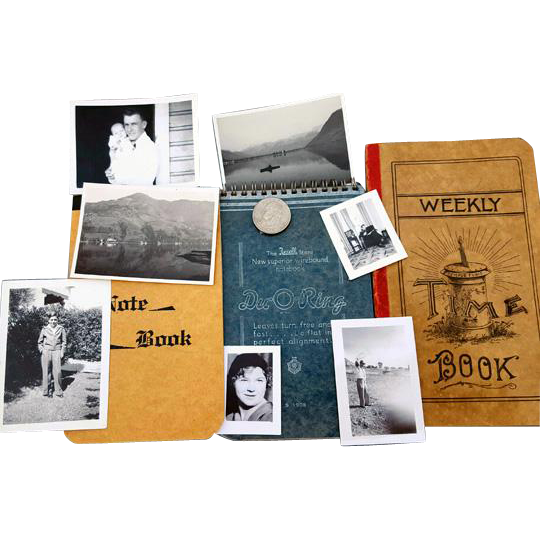 Old Black and White Photographs Notebooks Scrapbook Vintage
