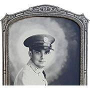 1940s WWII Soldier Honolulu Hawaii Black and White Photograph