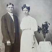 1900's Wedding Photograph Bride Groom Edwardian Era