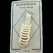 Vintage Bone Rings Depression Era Sewing Notion DIY Craft