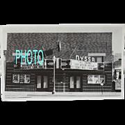 Black and White Vintage Photograph Movie Theatre Nyssa Oregon