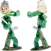 Vintage Pipe Cleaner People Chenille Figure St. Patrick's Day