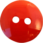 Big Red Bakelite Button Vintage Smash Hit