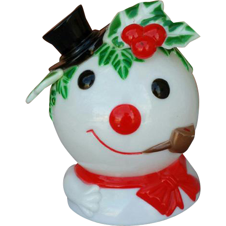 Vintage Christmas Music Box Revolving Frosty The Snowman 1973