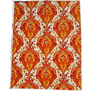 Exotic Indian Cotton Screen Print Fabric Sample Ajanta Schumacher
