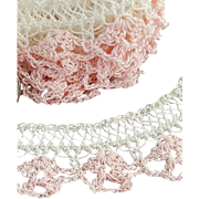 1940s - 1950s Crochet Lace Mint, Unused Handmade Trim