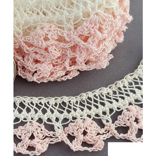1940s - 1950s Crochet Lace Mint, Unused Handmade Trim