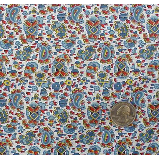 1930s Cotton Sewing Fabric Rare Textile from Collection Bohemian