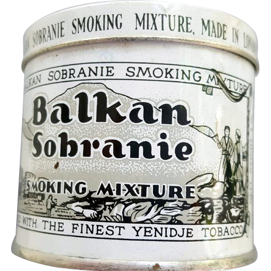 Balkan Sobranie Tobacco Tin Smoking Mixture Unopened 2 oz