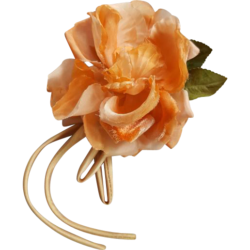 Coral Silk Rose Vanity Corsage Flower Accent Clothing Accessory