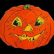 1950s Vintage Halloween Die Cut Jack o' Lantern JOL Decoration