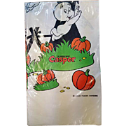 Vintage Halloween Casper The Ghost Paper Table Cloth MIP