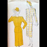 Women's 1940s Vintage Suit Sewing Pattern Plus Size Bust 46 Mint