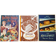 3 Cookbooks 1930s Advertising Booklets 100's of Vintage Recipes