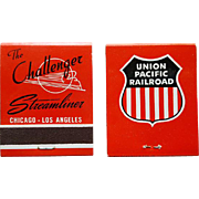 1950s Challenger Streamliner Railroad Matchbooks UPRR