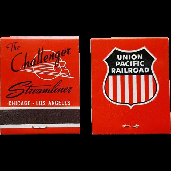 1950s Challenger Streamliner Railroad Matchbooks UPRR