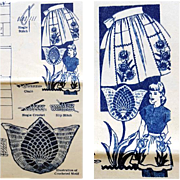1950s Apron Pattern With Crochet or Embroidered Appliqued Pockets
